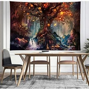 NEW A Large Flannel Life Tree Elves Tapestry